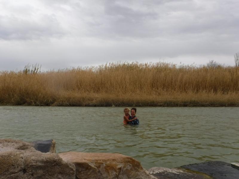 swimming in rio grande, mexico side