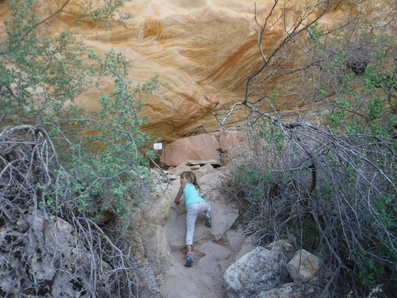 climbing to ball room cave