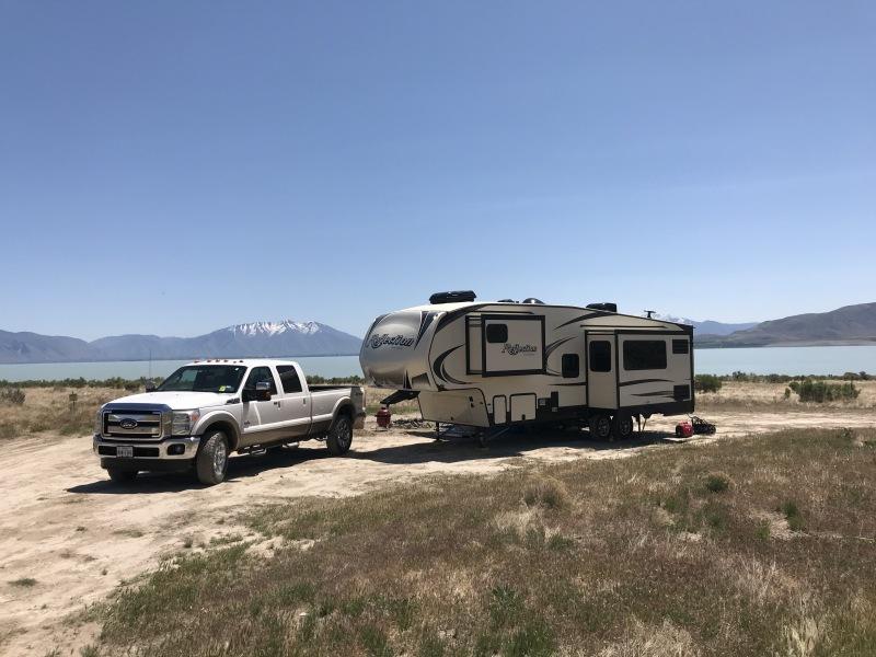 Boondocking Utah Lake